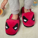 Deadpool Plush Slippers (UK 3 - 7) - bigsmall.in