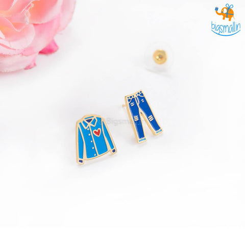 Denim Love Gold Plated Earrings - bigsmall.in