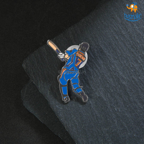 MS Dhoni Lapel Pin