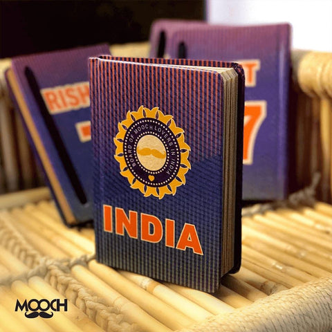 Team India A6 Notebook With Elastic - Cricket - bigsmall.in