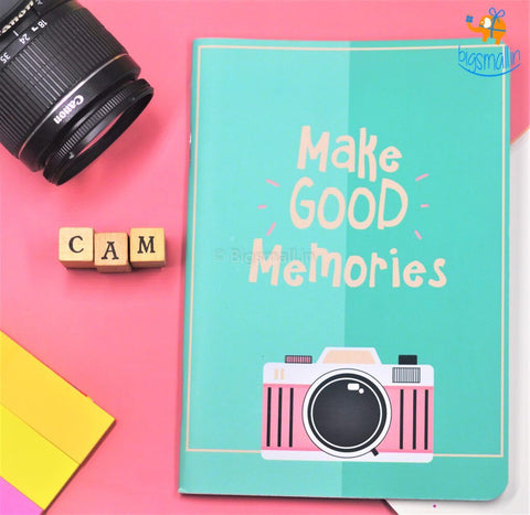 Make Good Memories Ruled Notebook - bigsmall.in