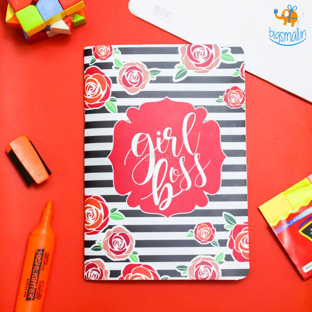 Girl Boss Ruled Notebook - bigsmall.in