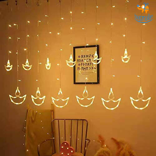 Diya Curtain LED Lights