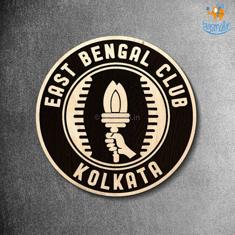 East Bengal Engraved Wooden Crest