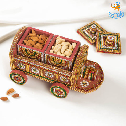 Handcrafted Train Shaped Dry Fruit Box