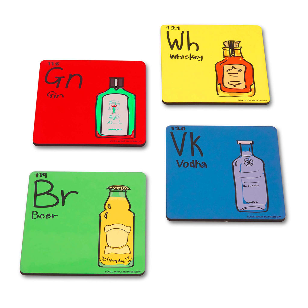 Element Coasters - Set of 4 - bigsmall.in