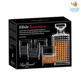 Italian Crystal Glass Whiskey Set - 5 pcs