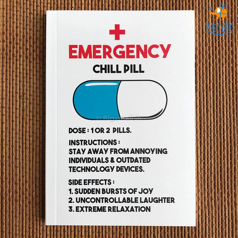 Pop a Chill Pill Notebook - bigsmall.in