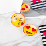 Emoji Crystal Glass Fridge Magnets- Set of 2 - bigsmall.in
