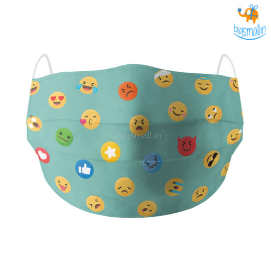 Emojis Cotton Mask With Filter