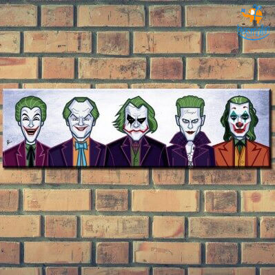 Evolution Of The Joker Laminated Poster