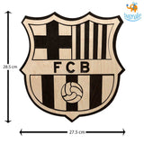 Barcelona Engraved Wooden Crest - bigsmall.in