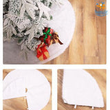 Faux Fur Christmas Tree Mat - bigsmall.in