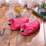 Flamingo Plush Slippers (UK Size 4 - 8) - bigsmall.in