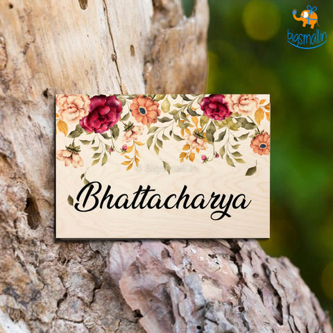 Personalized Floral Name Plate | COD not available