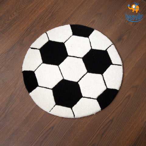 Football Shaped Rug - bigsmall.in