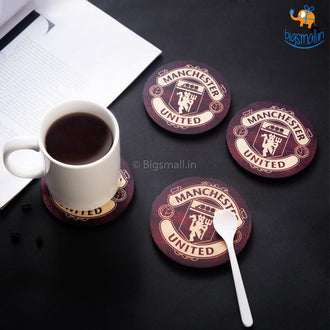 Manchester United Wooden Coasters - Set of 4