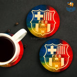 Barcelona Wooden Coasters - Set of 4 - bigsmall.in