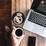 Real Madrid Wooden Coasters - Set of 4 - bigsmall.in