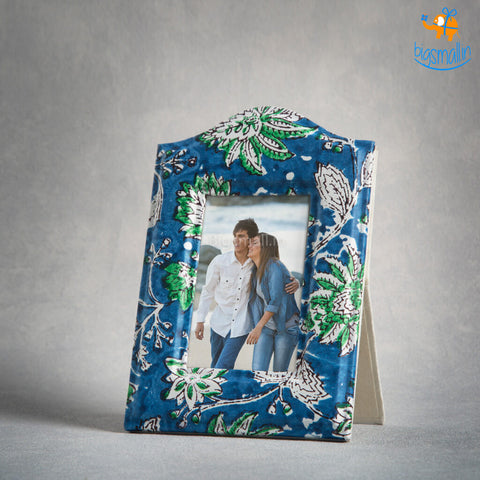 Blue Floral Photo Frame