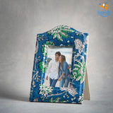 Blue Floral Photo Frame | COD Not available