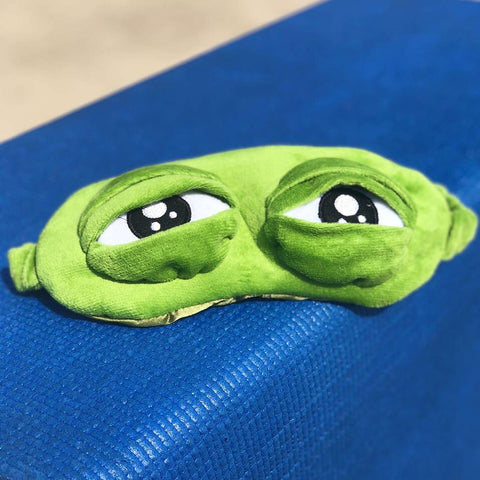 3D Plush Frog Eye Mask - bigsmall.in