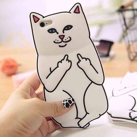 Funny Cat iPhone Cover - bigsmall.in