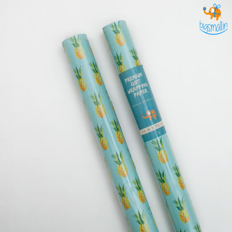 Pineapple Gift Wrapping Paper Roll - bigsmall.in