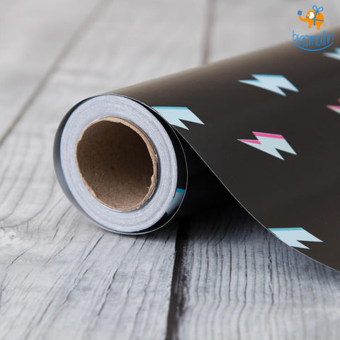Lightning Flash Gift Wrapping Paper Roll - bigsmall.in