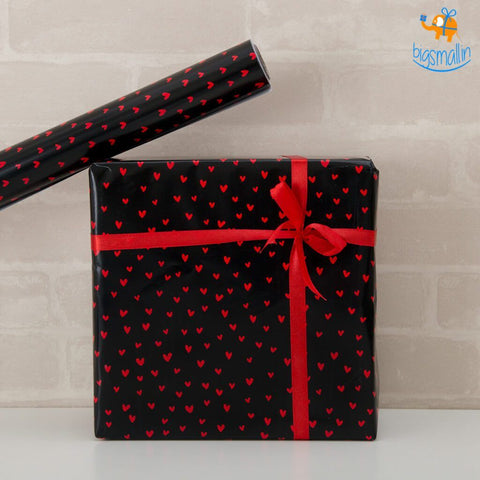 Mini Hearts Gift Wrapping Paper Roll - bigsmall.in