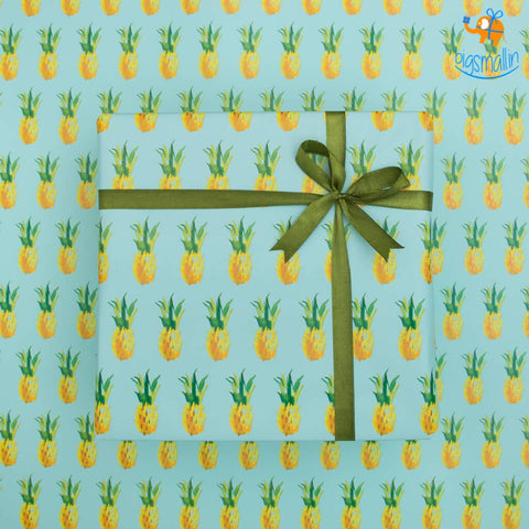 Pineapple Gift Wrapping Paper Roll