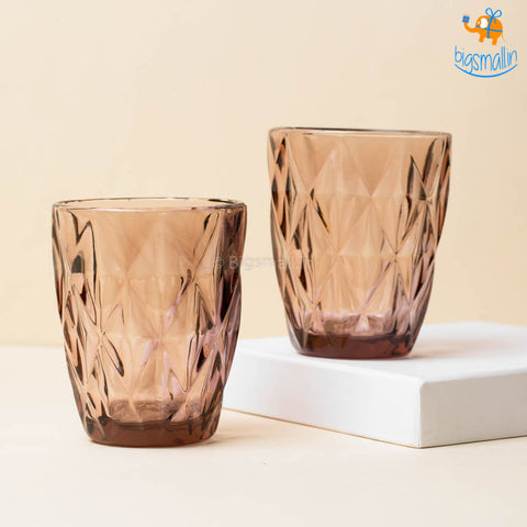 Rose Tinted Glass Tumbler - Set of 6