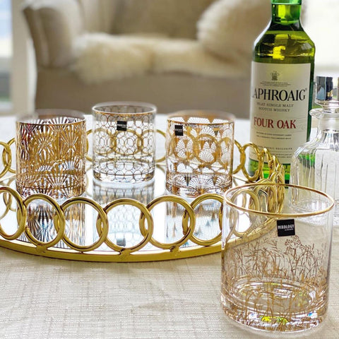 Golden Cocktail Glasses - Set of 4