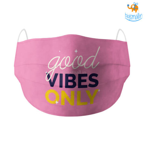 Good Vibes Cotton Mask With Filter