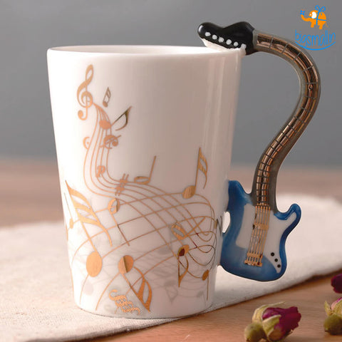 Guitar 3D Coffee Mug
