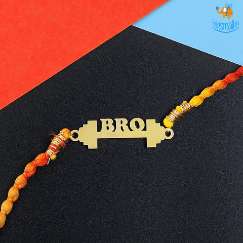 Gym Bro Rakhi Gift Set