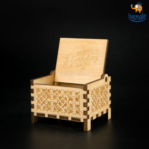 Happy Birthday Music Box with Automatic Key - bigsmall.in
