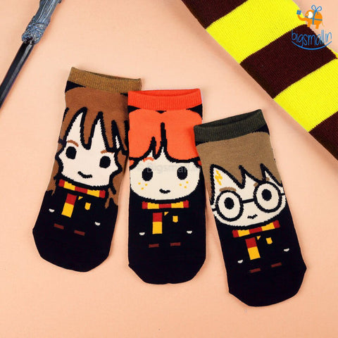 Harry Potter Ankle Length Socks - Set of 3 - bigsmall.in