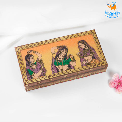 Hand-Painted Wooden Jewellery Box