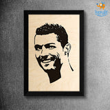 Footballer Engraved Wooden Frame (19 x 13 inches)