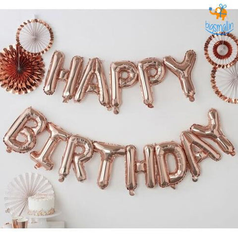 Happy Birthday Foil Balloons Bigsmall In