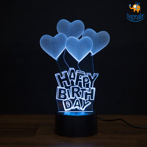 Happy Birthday Hologram Lamp - bigsmall.in