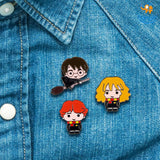 Harry Potter Character Metallic Pins - Set of 3 - bigsmall.in