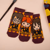 Harry Potter Ankle Length Socks - Set of 3