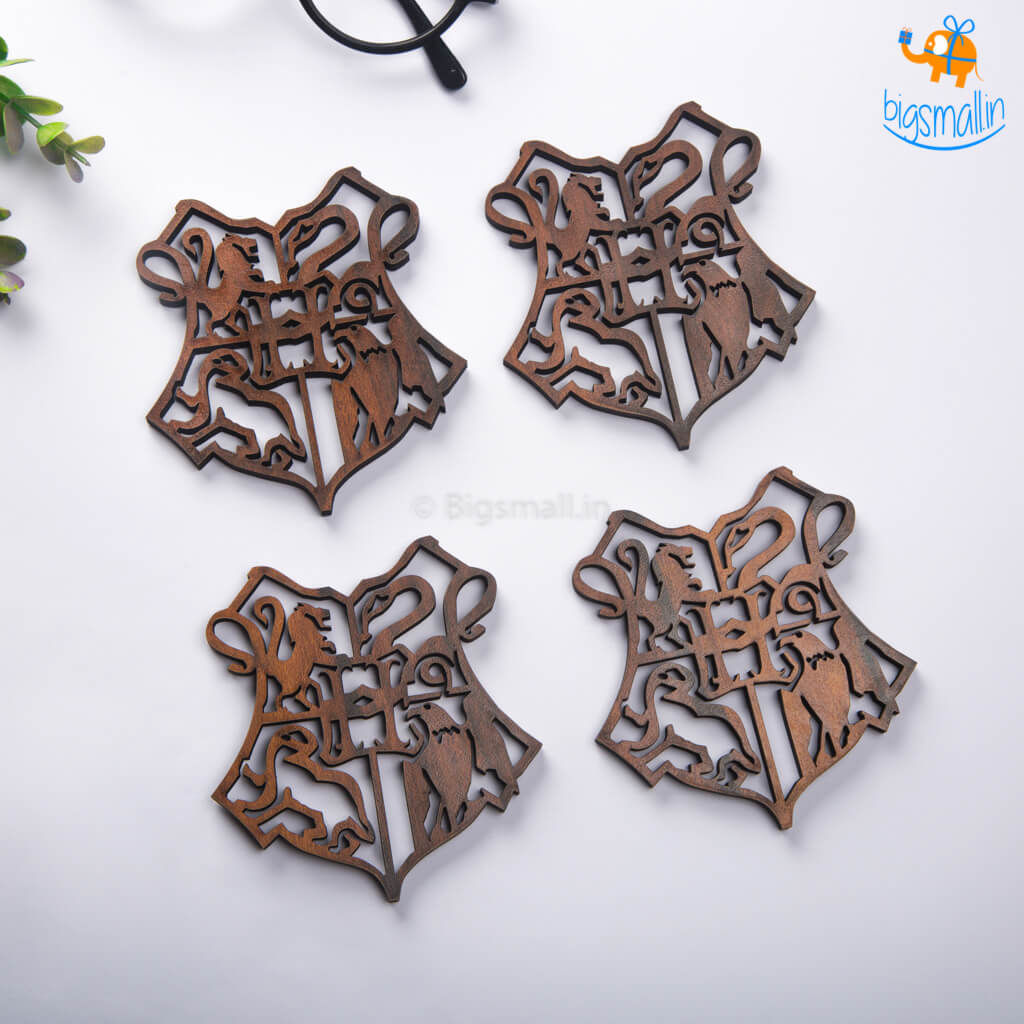 Harry Potter Laser Cut Wooden Coasters - Set of 4