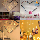 Heart Shape Curtain Clips LED String Lights