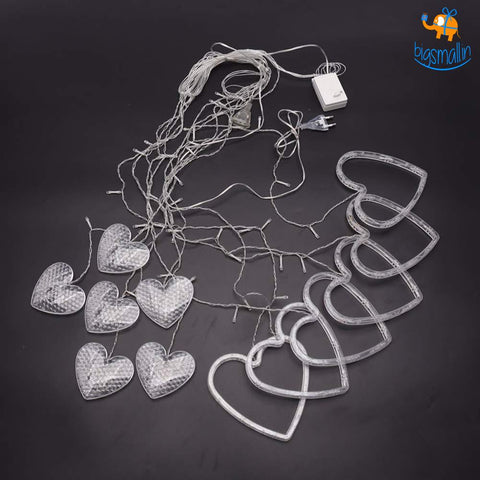 Heart Curtain LED Lights - bigsmall.in