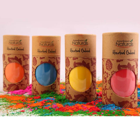 Herbal Holi Colours - Pack of 4