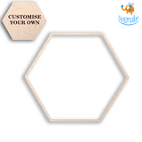 Personalized Wooden Hexagon Coasters | COD Not available - bigsmall.in