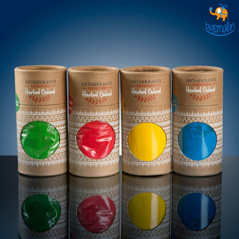 Herbal Holi Colours - Pack of 4 - bigsmall.in
